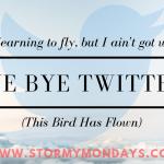 Bye Bye Twitter!